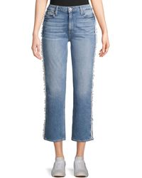 PAIGE Noella Cropped Straight-leg Jeans - Blue
