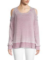 Allen Allen - Long-sleeve Cold-shoulder Sweatshirt - Lyst