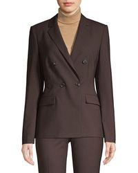 BOSS by Hugo Boss Jacelynne Stretch-wool Double-breasted Jacket - Black