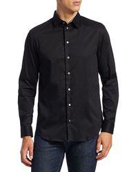Giorgio Armani Solid Sport Shirt - Black