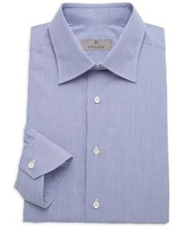 Canali Modern-fit Striped Dress Shirt - Blue