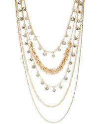Saks Fifth Avenue | Faceted Multi-strand Necklace | Lyst