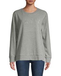 DKNY Crewneck Cotton-blend Sweatshirt - Black