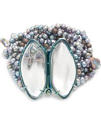 Alexis Bittar - 3-10mm Baroque Freshwater Pearl, Lucite & Wood Beads Layered Bracelet - Lyst