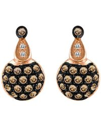 Le Vian - 14kt. Rose Gold And Brown Diamond Drop Earrings - Lyst