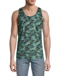 2xist Camouflage Tank Top - Green