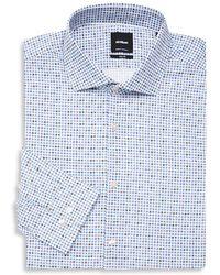 Strellson - Slim-fit Geometric Dress Shirt - Lyst