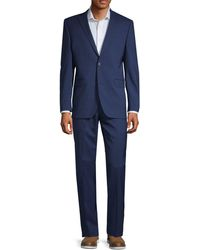 Saks Fifth Avenue 2-piece Mini Check Suit - Blue