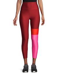 Nanette Lepore Colorblock High-waist Leggings - Red