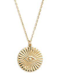 Saks Fifth Avenue Women's 14k Yellow Gold Evil Eye Necklace - Metallic