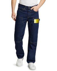 Helmut Lang Men's Masc Neon Label Utility Jeans - Sioux Blue - Size 30