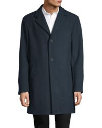 DKNY - Classic Notched Coat - Lyst