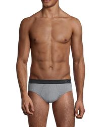 Hom Men's Comfort Mini Briefs - Jeans - Size Xxxxxl - Brown