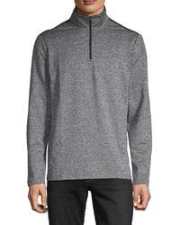 Calvin Klein Space-dye Quarter-zip Jumper - Grey