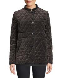 Jane Post Quilted Velvet Jacket - Black