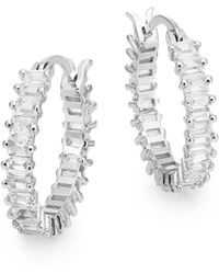 Saks Fifth Avenue - Baguette Hoop Earrings - Lyst