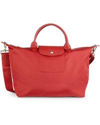 Longchamp Le Pliage Neo Top Handle Satchel - Red
