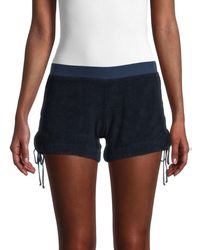 Hard Tail Side-tie Track Shorts - Blue