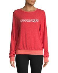Wildfox Graphic Roundneck Sweatshirt - Pink