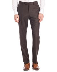 Incotex Benson Sharkskin Dress Pants - Blue