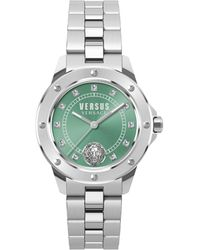 Versus South Horizons Stainless Steel & Swarovski Crystal 3-hand Watch - Metallic