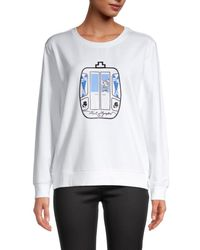 Karl Lagerfeld Women's Graphic Sweatshirt - White - Size Xl