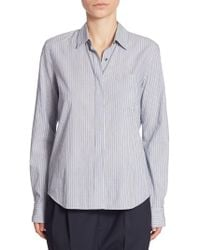 Vince - Striped Fitted Shirt - Lyst