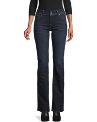 Hudson Jeans Mid-rise Baby Bootcut Jeans - Blue