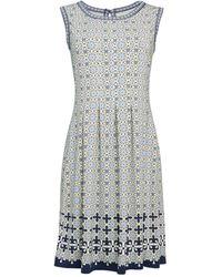 Max Studio - Printed Fit-&-flare Dress - Lyst