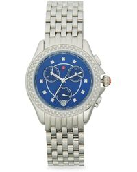 Michele Stainless Steel & Diamond Bracelet Chronograph Watch - Multicolour