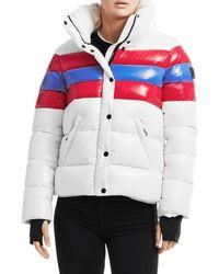 Sam. Lindsey Colorblock Stripe Puffer Jacket - Multicolour
