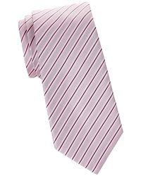 Armani - Striped Silk Tie - Lyst