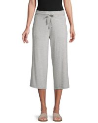 Marc New York Wide-leg Cropped Sweatpants - Grey