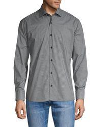 Bertigo Printed Long-sleeve Shirt - Grey