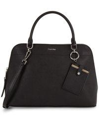 Calvin Klein - Structured Leather Satchel - Lyst