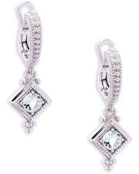 Judith Ripka - White Sapphire & Sterling Silver Renaissance Drop Earrings - Lyst