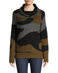 Cliche Camouflage-print Sweater - Black