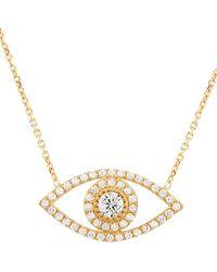 Gabi Rielle - 22k Goldplated & Pavé Lucky Eye Pendant Necklace - Lyst