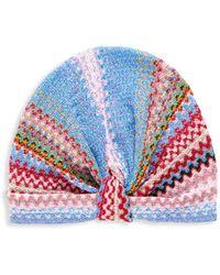 Missoni Women's Multicolored Chevron Headband - Pink Multi - Multicolour