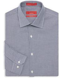 Saks Fifth Avenue - Trim-fit Houndstooth Print Dress Shirt - Lyst