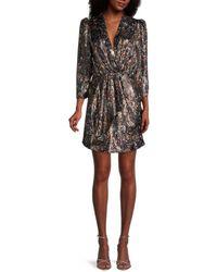 IRO Milad Print Silk-blend Wrap Dress - Black