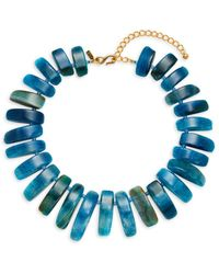 Kenneth Jay Lane Women's Agate Stone Bars Necklace - Blue