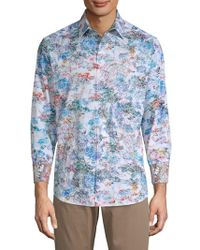 Robert Graham - Printed Cotton Button-down Shirt - Lyst