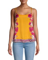 Free People - Floral Embellished Cami Top - Lyst