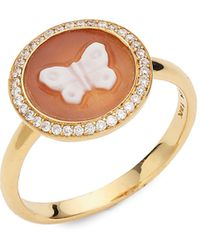 Ippolita 18k Yellow Gold Diamond & Resin Butterfly Ring - Metallic