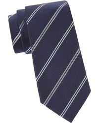 Armani Men's Striped Silk Tie - Ice - Multicolor