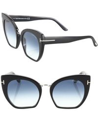 Tom Ford - Samantha 55mm Cropped Cat Eye Sunglasses - Lyst