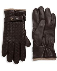 Saks Fifth Avenue - Woven Leather Gloves - Lyst