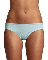Onia Textured Bikini Bottom - Blue