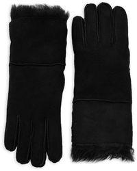 Surell Toscana Fur-trim Gloves - Natural